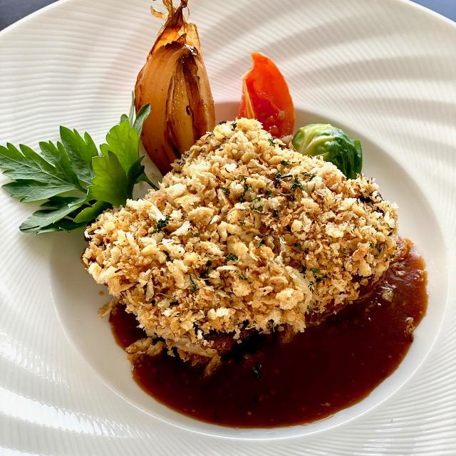 国産鶏の香草パン粉焼き