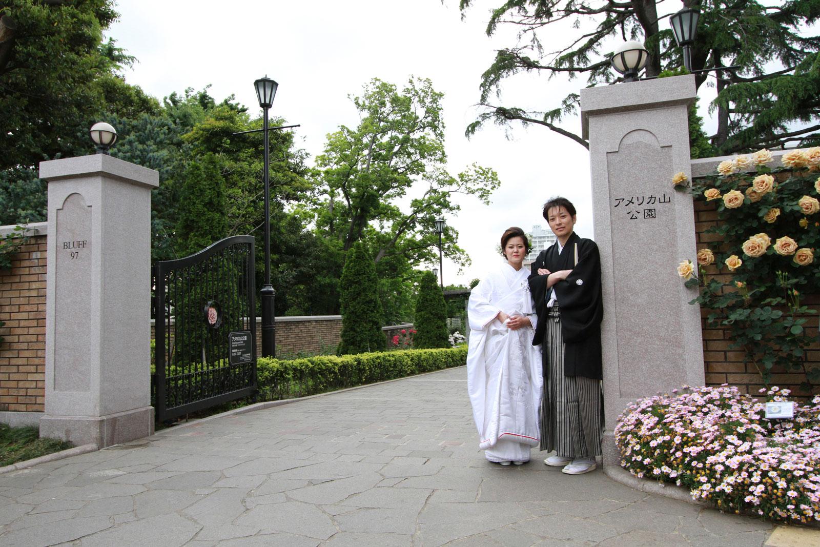 和装ロケーションフォト(港の見える丘公園ver.)