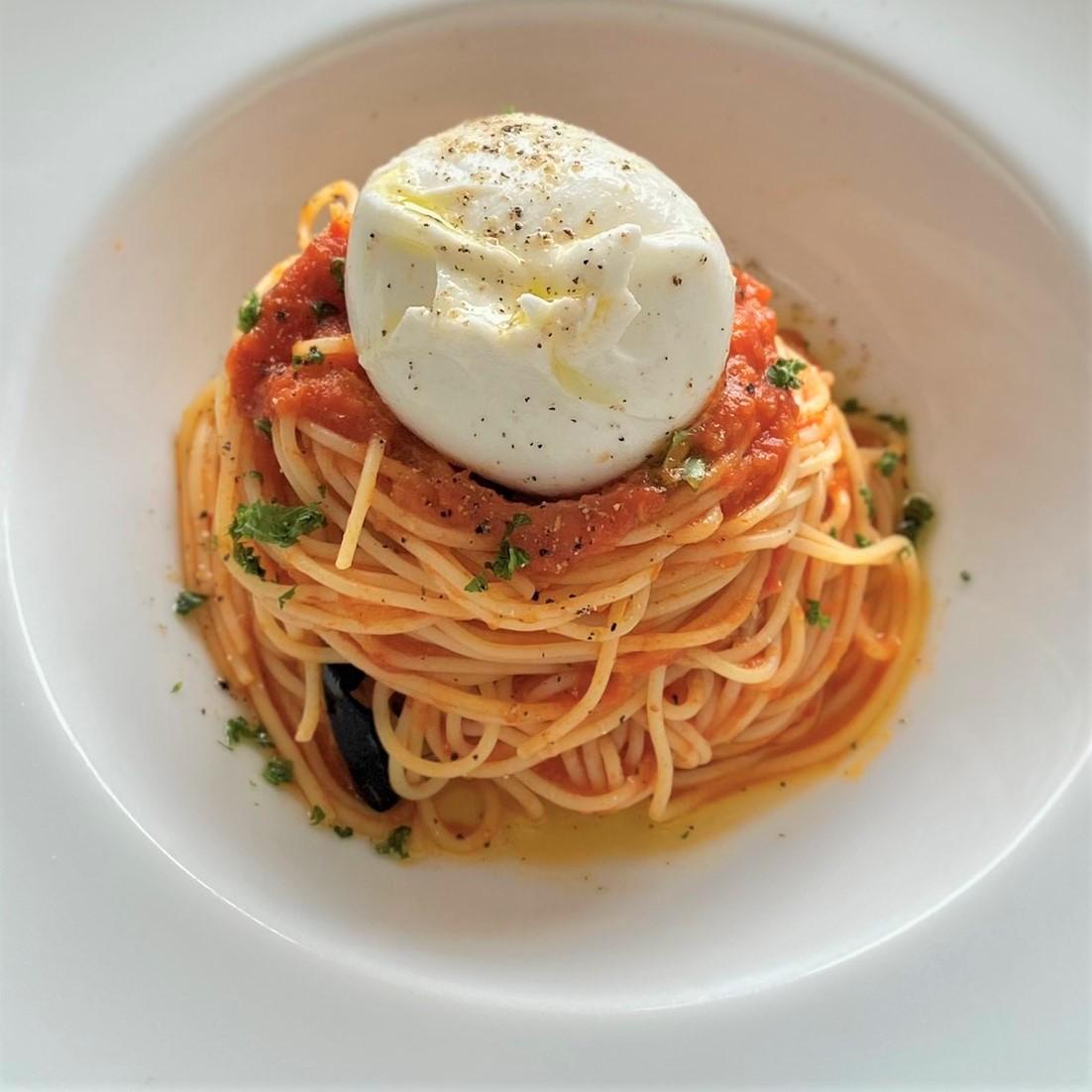 プラッターチーズと<br>米茄子のカッペリーニ